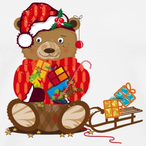 little bear with a Christmas hat Other - Men's Premium T-Shirt