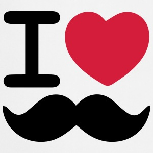 I Love Moustaches - Movember - Cooking Apron