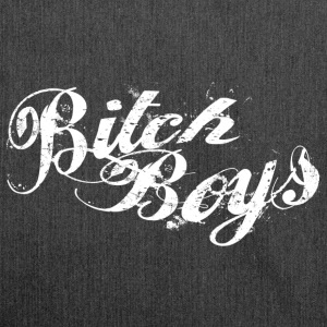 Bitch Boys Logo Pure White - Schultertasche aus Recycling-Material