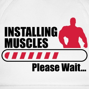 Funny Gym Installign Muscles  T-shirts - Basebollkeps