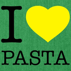 I LOVE PASTA - Schultertasche aus Recycling-Material