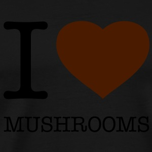 I LOVE MUSHROOMS - Herre premium T-shirt