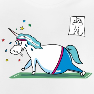 Fat Unicorn doing sports Shirts - Baby T-shirt