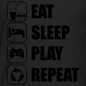 Eat,sleep,play,repeat Gamer Gaming - Herre premium T-shirt med lange ærmer