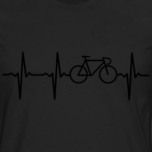Heartbeat - Bicycle Camisetas - Camiseta de manga larga premium hombre