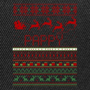 Pappy Ugly Christmas Sweater Xmas T-Shirts - Snapback Cap