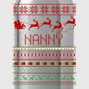 Nanny Ugly Christmas Sweater Xmas T-Shirts - Water Bottle