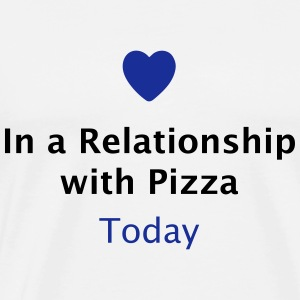In a Relationship with Pizza / Beziehungsstatus  Tops - Männer Premium T-Shirt