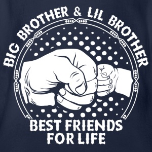 Big Brother & Lil Brother Best Friends For Life Shirts - Organic Short-sleeved Baby Bodysuit