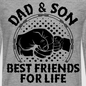 Dad And Son Best Friends For Life T-Shirts - Men's Premium Longsleeve Shirt