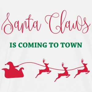 Santa Claus is coming to town Baby Bodysuits - Men's Premium T-Shirt