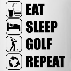 Eat,sleep,golf,repeat - Tasse