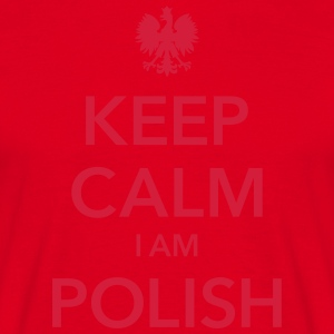 KEEP CALM I AM POLISH - T-skjorte for menn