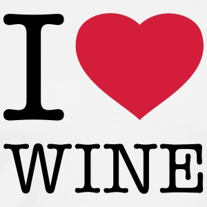 I LOVE WINE   - Premium-T-shirt herr