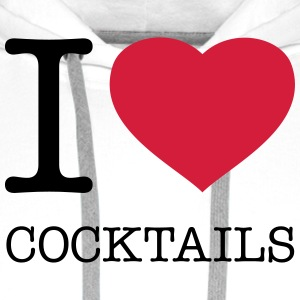 I LOVE COCKTAILS - Premium hettegenser for menn