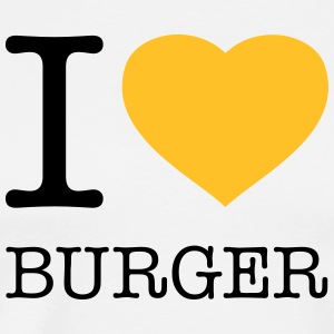 I LOVE BURGER - Herre premium T-shirt