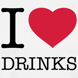 I LOVE DRINKS - Men's Premium T-Shirt