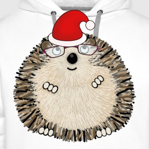 Happy Christmas Hedgehog t-shirt for women - Men's Premium Hoodie