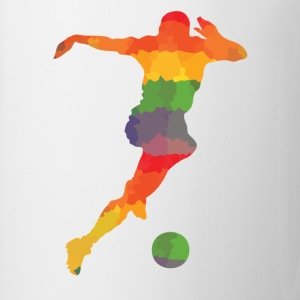 Futbolistas de color - Taza