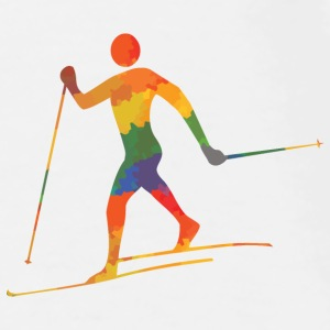 Colored cross-country skiers - Men's Premium T-Shirt