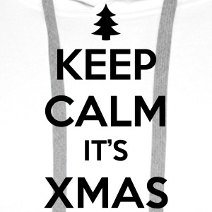 keep calm its xmas - Men's Premium Hoodie