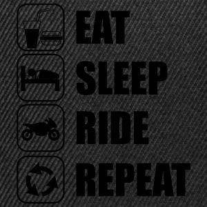 Eat,sleep,ride,repeat Moto Moatrd - Casquette snapback