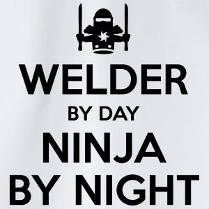 welder day ninja by night - Drawstring Bag