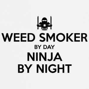 weed smoker day ninja by night - Cooking Apron