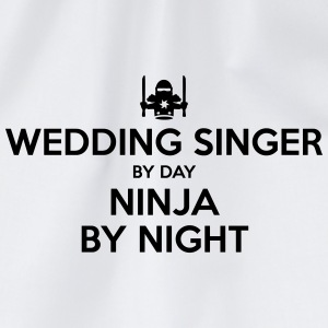 wedding singer day ninja by night - Drawstring Bag