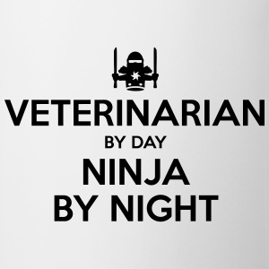 veterinarian day ninja by night - Mug