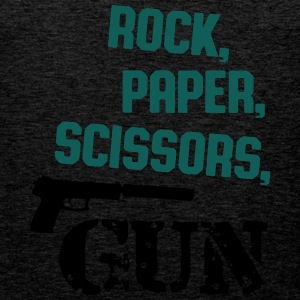 rock, paper, scissors, gun T-Shirts - Männer Premium Tank Top