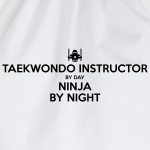 taekwondo instructor day ninja by night - Drawstring Bag