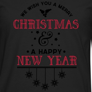Merry Christmas and a happy new year - Männer Premium Langarmshirt