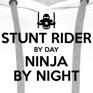stunt rider day ninja by night - Men's Premium Hoodie