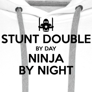 stunt double day ninja by night - Men's Premium Hoodie