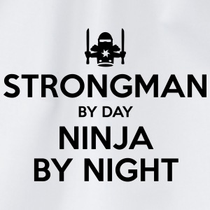 strongman day ninja by night - Drawstring Bag