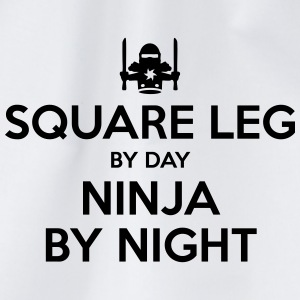 square leg day ninja by night - Drawstring Bag