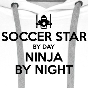 soccer star day ninja by night - Men's Premium Hoodie