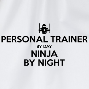 personal trainer day ninja by night - Drawstring Bag