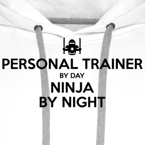 personal trainer day ninja by night - Men's Premium Hoodie