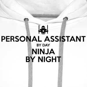 personal assistant day ninja by night - Men's Premium Hoodie