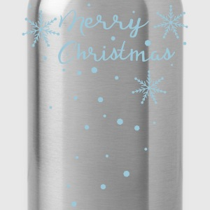 Merry Christmas snowflakes Women's Premium Longsle - Water Bottle