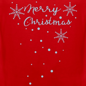 Merry Christmas snowflakes Women's Premium Longsle - Men's Premium Tank Top