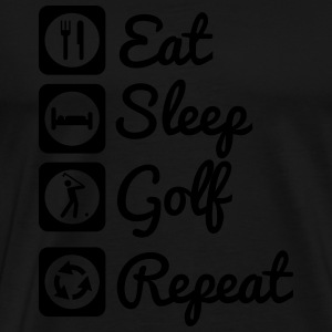 Eat,sleep,play,golf - Männer Premium T-Shirt