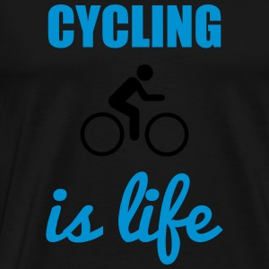 Cycling is life Fahrrad - Men's Premium T-Shirt