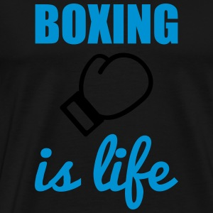 Boxing is life  Tröjor - Premium-T-shirt herr