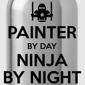 painter day ninja by night - Water Bottle