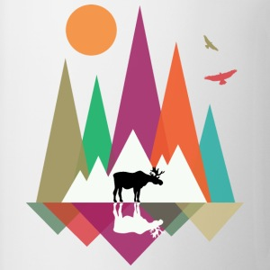 Hipster Mountains & Moose Tee shirts - Tasse