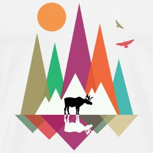 Hipster Mountains & Moose Hoodies & Sweatshirts - Men's Premium T-Shirt