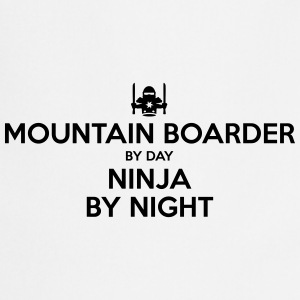 mountain boarder day ninja by night - Cooking Apron